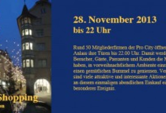 Nightshopping am 28. und 29. November 2013