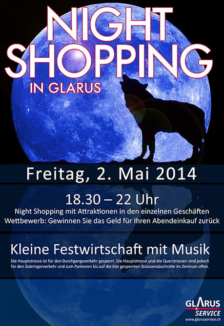 Glarus Night Shopping 2. Mai