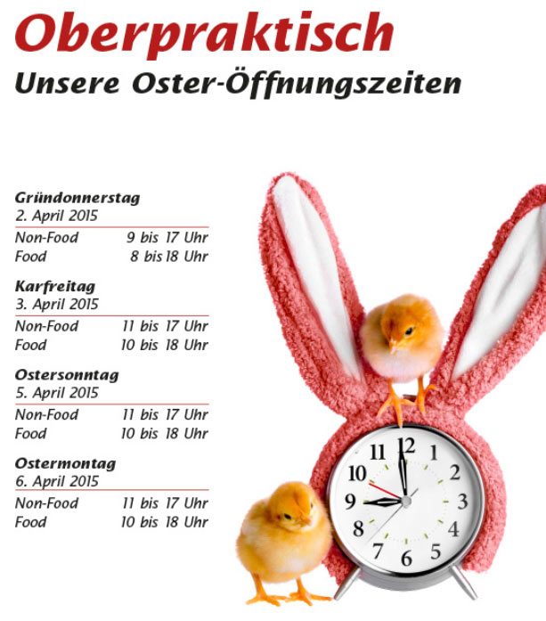 Ostermontag Offen