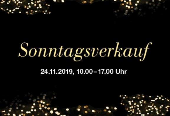 Sonntagsverkauf, 24. November 2019, mit den Öffnungszeiten