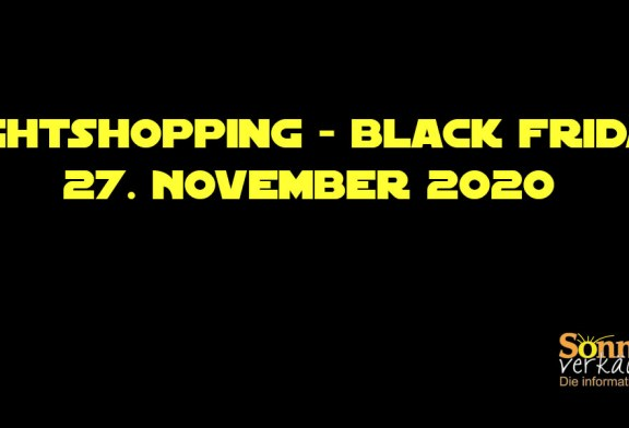 Nightshopping – Black Friday, 27. November 2020
